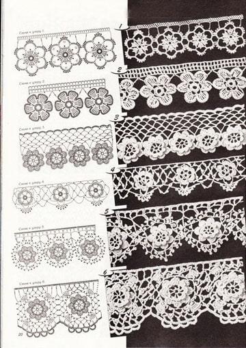puntillas tejidas a crochet para servilletas