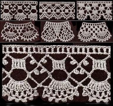 puntillas tejidas a crochet para toallas
