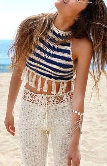 remeras tejidas al crochet de verano