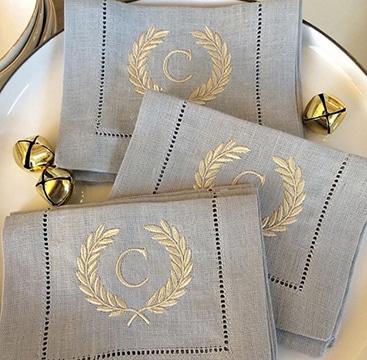 tipos de bordados para servilletas elegante