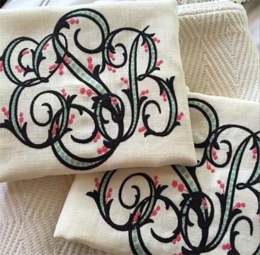 tipos de bordados para servilletas personalizado