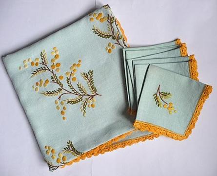 tipos de bordados para servilletas para vintage