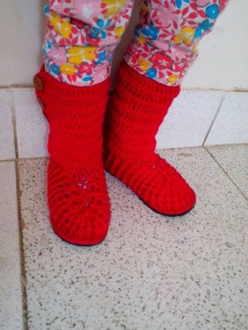 zapatos tejidos para adultos botas