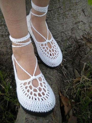 zapatos tejidos para adultos diseño