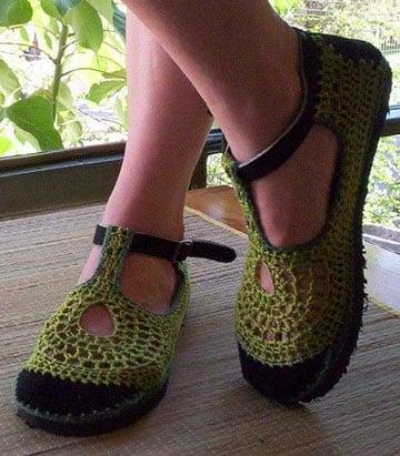 zapatos tejidos para adultos paso a paso