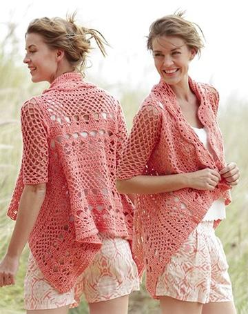 blusones tejidos a crochet abierto
