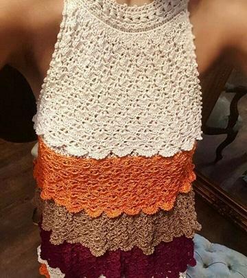 blusones tejidos a crochet de colores