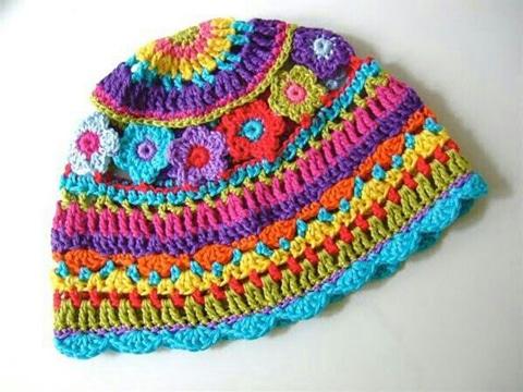 boinas tejidas para mujer colorida