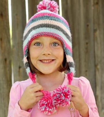 boinas tejidas para niña de colores