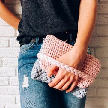 bolsa de mano para mujer de tela
