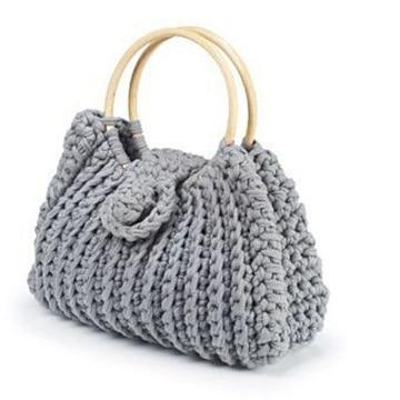 bolsa de mano para mujer tejido