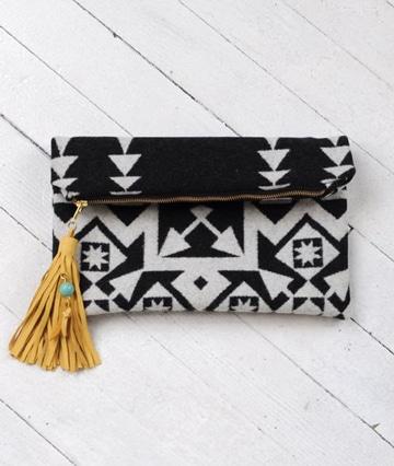 bolsa de mano para mujer tribal
