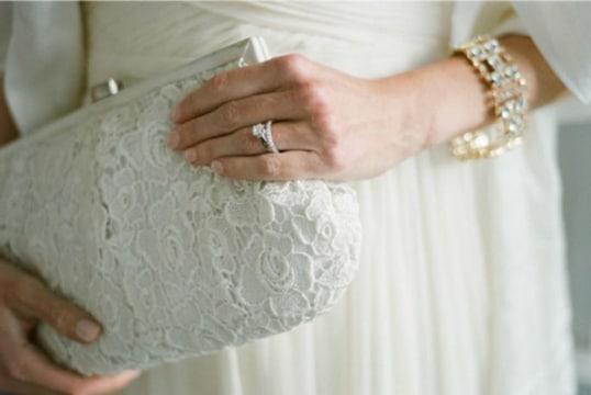 carteras de mano para bodas blanca