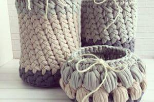 La cesta de trapillo paso a paso, una solución para el hogar