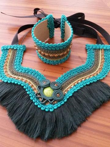como hacer collares tejidos etnico