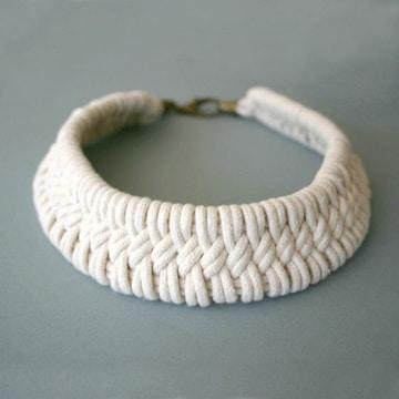 como hacer collares tejidos faciles