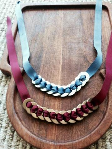 como hacer collares y pulseras con aros