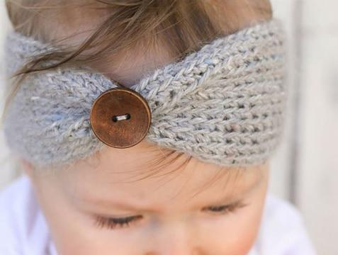 como hacer turbantes para bebes con boton