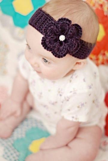 como hacer turbantes para bebes con flor