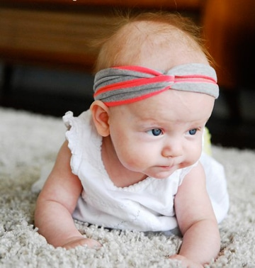 como hacer turbantes para bebes super facil