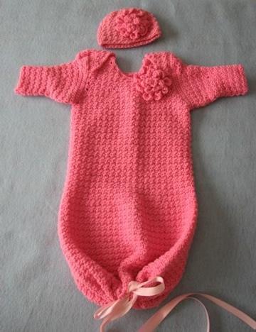 costalitos tejidos para bebe rosado