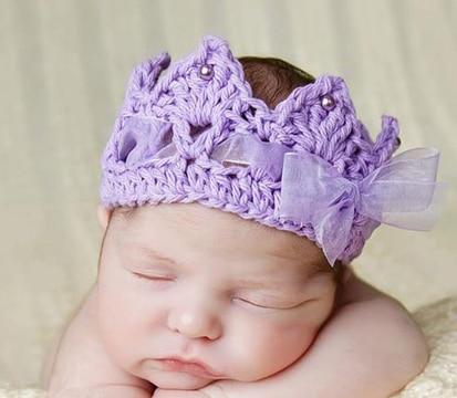 diademas tejidas para bebe recien nacido