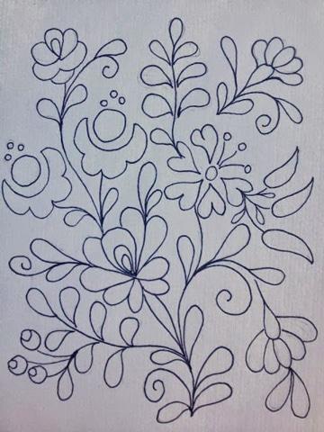 dibujos para bordado mexicano patron