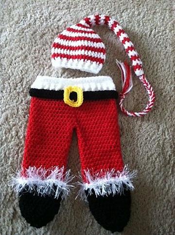 disfraces tejidos para bebes de navidad