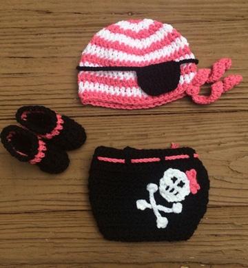 disfraces tejidos para bebes pirata