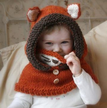 gorros de lana con orejas infantiles