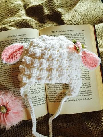 gorros de lana para niñas ovejita