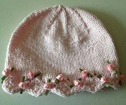 gorros de lana para niñas sencillo