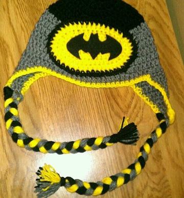 gorros tejidos de personajes batman