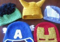 Unos súper gorros tejidos de personajes para tus súper niños