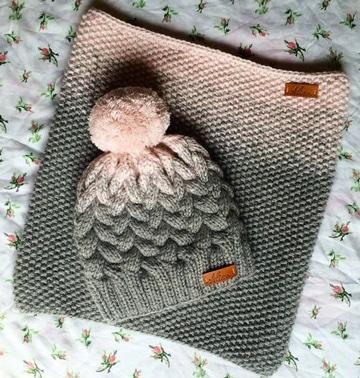 imagenes de gorros de lana matizada