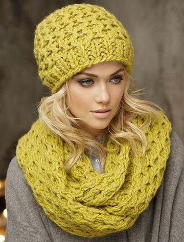 imagenes de gorros de lana para mujer