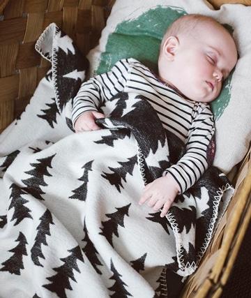 mantas tejidas para bebe reversible