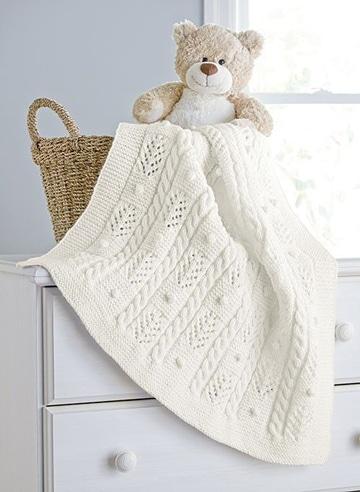 mantas tejidas para bebe unicolor