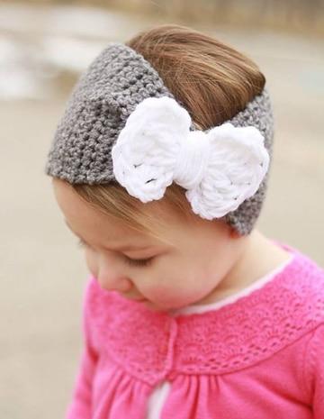 moños tejidos a crochet para niña