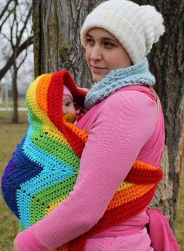 mochilas para llevar bebes tejidas