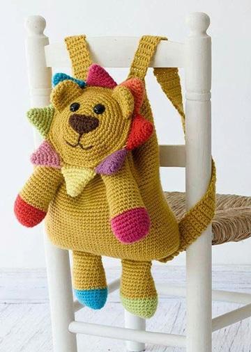 mochilas tejidas a crochet paso a paso para niños