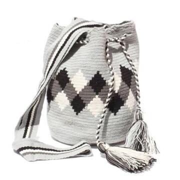 mochilas wayuu para hombre tonos grises