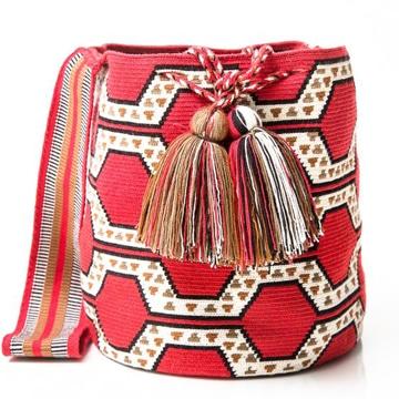 mochilas wayuu para mujer con moños
