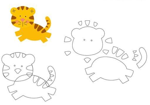 moldes para hacer peluches tigre