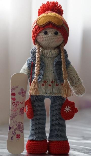 muñecas amigurumis paso a paso con patineta