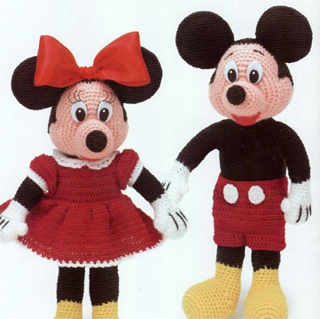 peluches de mickey mouse con minnie