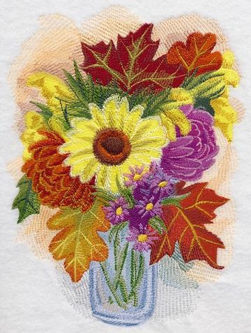 puntadas para bordar flores en frasco