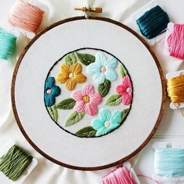puntadas para bordar flores ideas