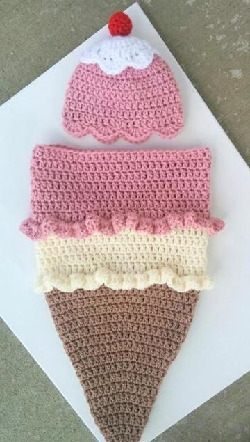 saquito de bebe a crochet barquilla