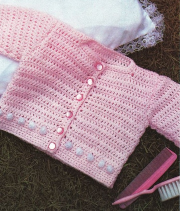 saquito de bebe a crochet niña